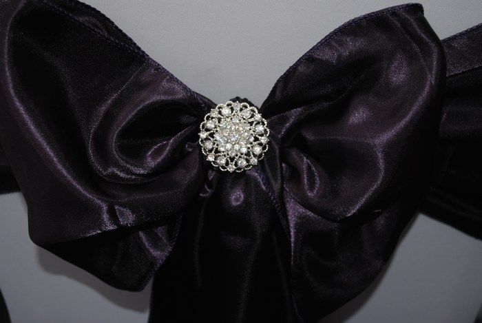 Diamante brooch for chair covers