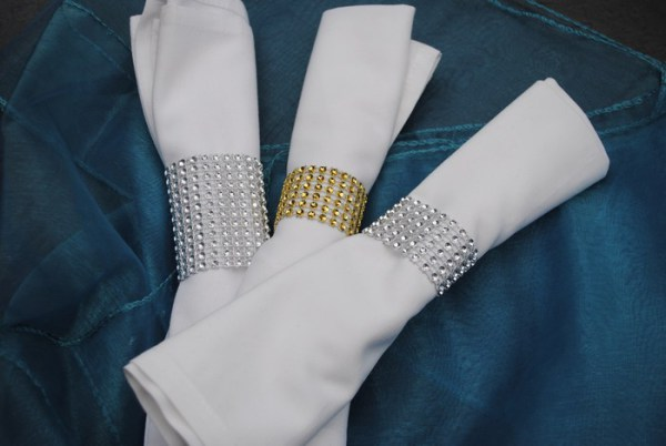 Diamante napkin rings