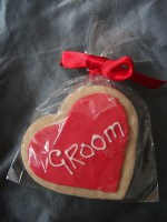 Groom name card cookie