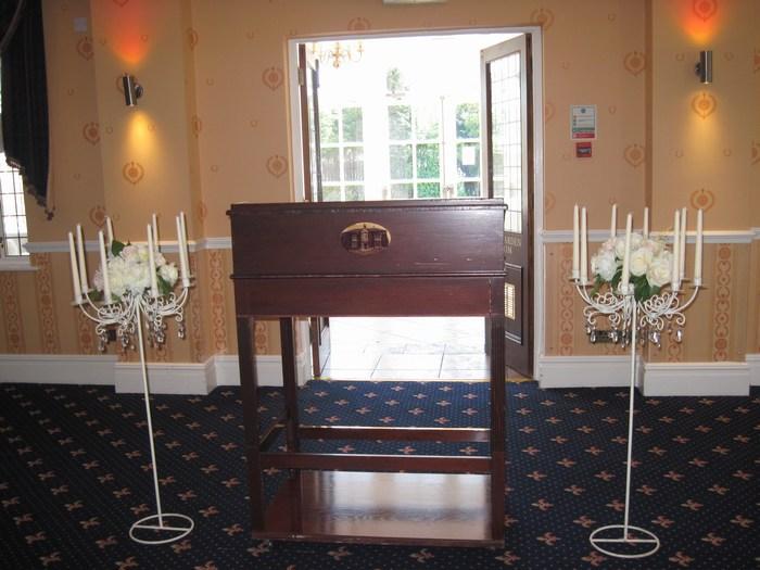 vinatge cream floor standing candelabra hire