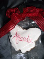 Cookie Favour in butterfly shape with name for name card