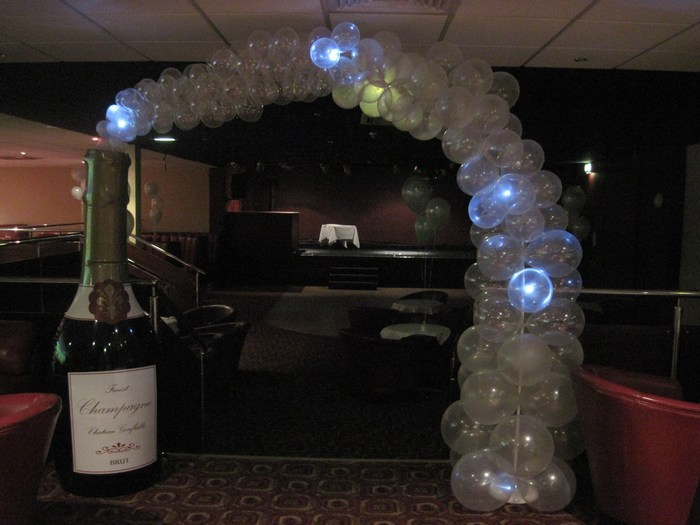 Twinkling Inflatable champagne bottle arch