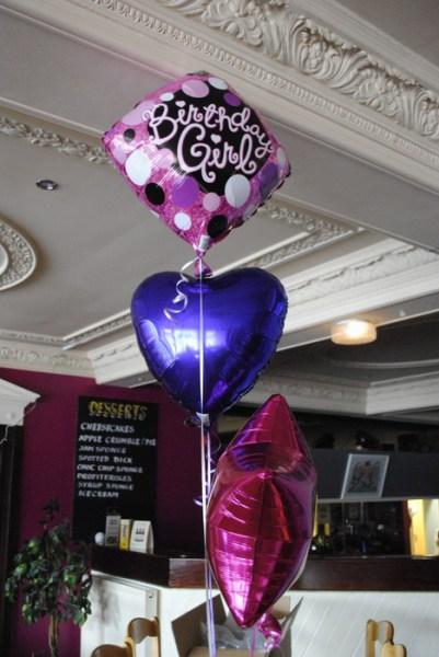 birthday foil balloon trios