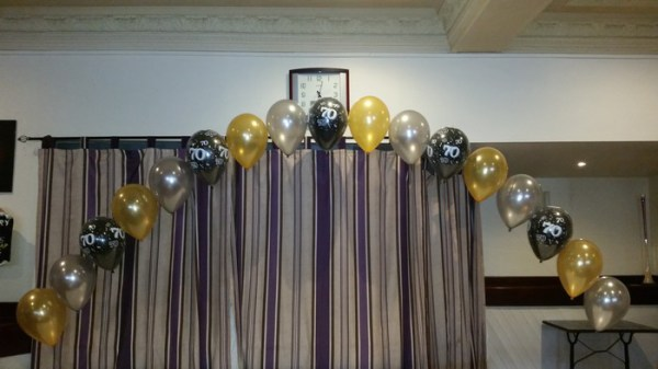 birthday balloon arch