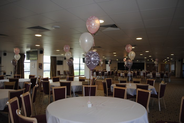 Christening balloon trios