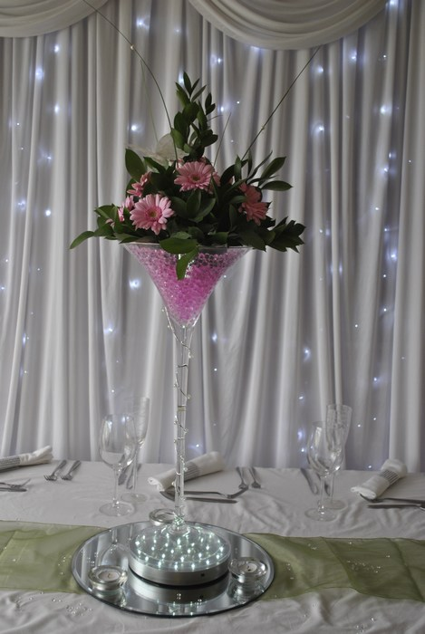 Super Martini with pink roses