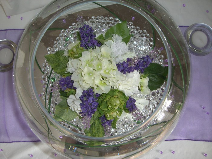 Large Goldfish Bowls manchester flowers & lavender
