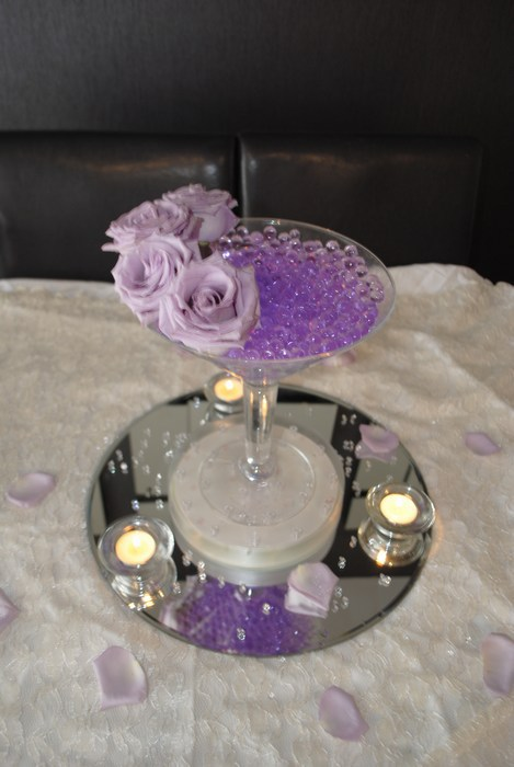 Small Martini fresh lilac roses, lilac pearl