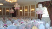 Cloud 9 in baby pink & white behind top table
