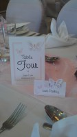 Vellum Butterfly Table Number
