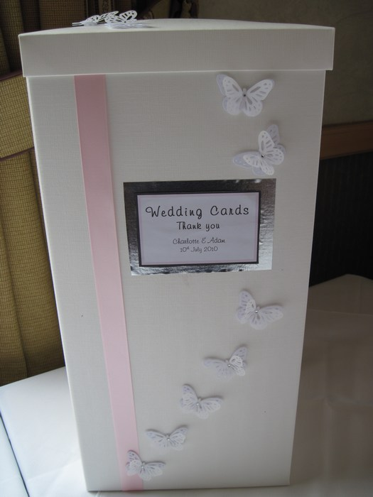 Vellum Butterfly wedding card post box