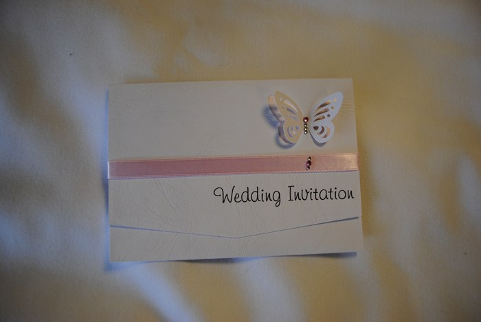 Vellum Butterfly pocket fold day invitation
