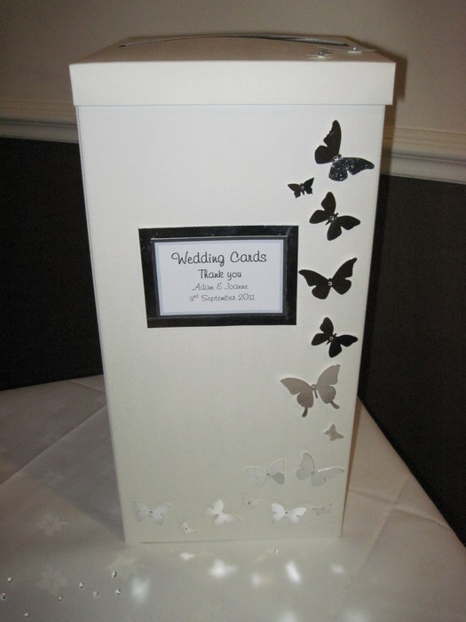 Blooming Butterfly wedding card post box