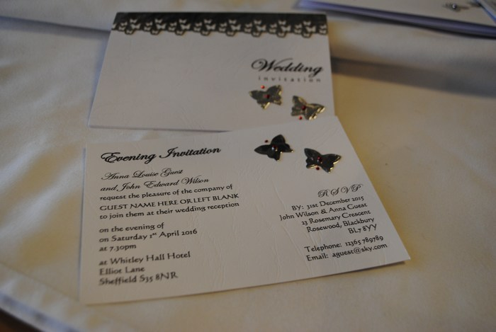 Blooming Butterfly standard day invitation & postcard evening invitation
