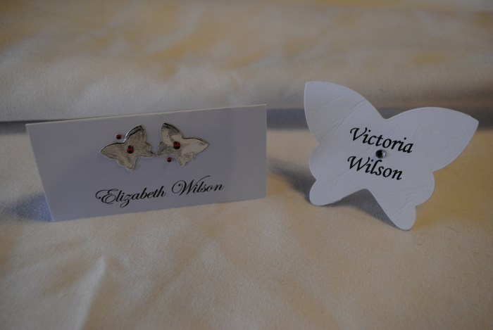 Blooming Butterfly name cards