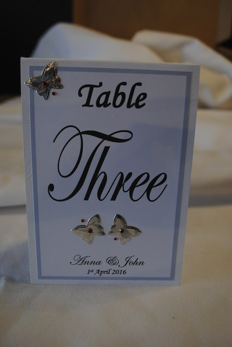 Blooming Butterfly table numbers