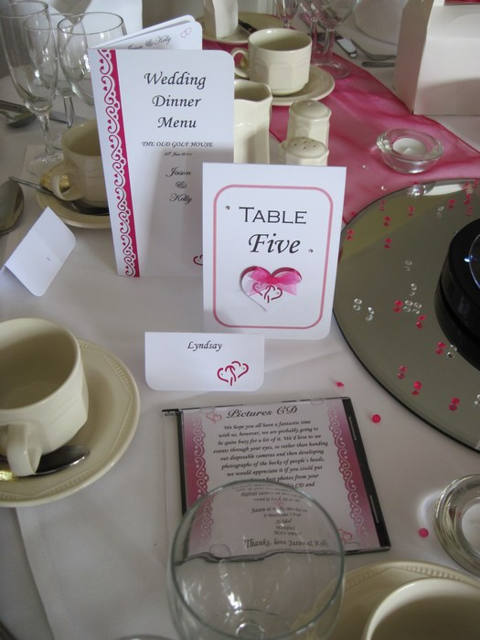 Entwined Hearts Table Number
