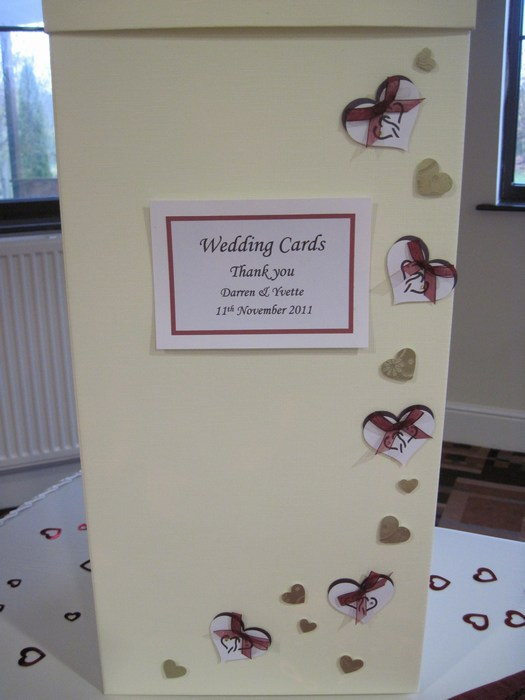 Entwined hearts wedding card post box