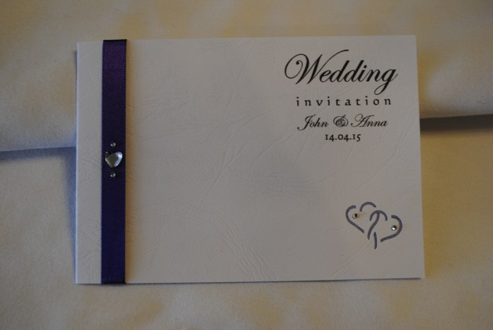 Entwined hearts standard day invitation