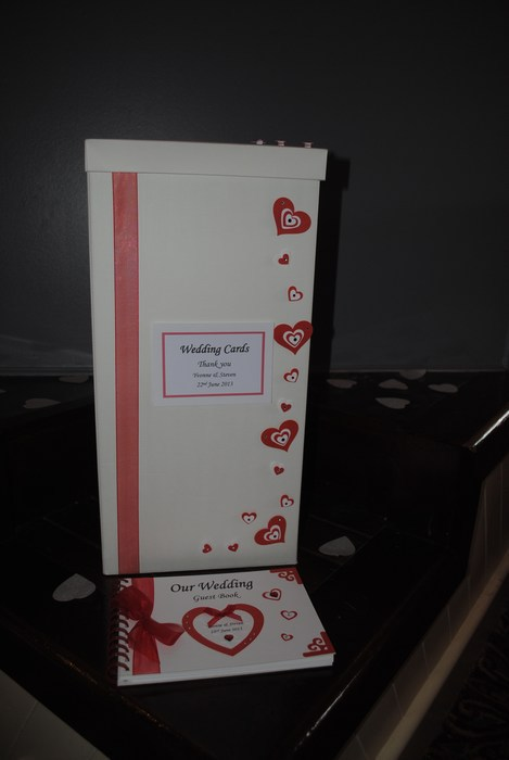 Loveheart postbox & guest book
