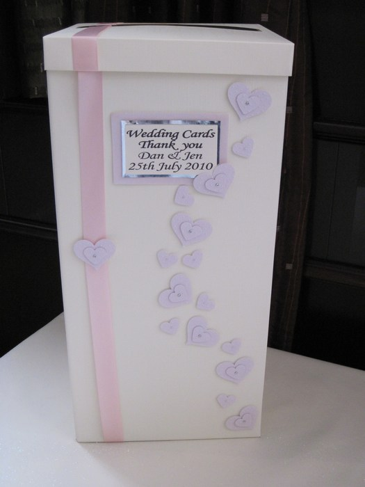 Loveheart wedding card post box