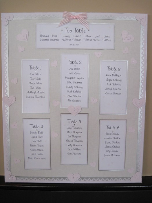 Loveheart table plan