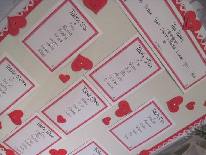 Loveheart table plan