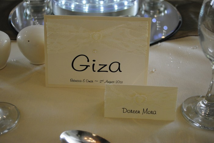 Lovely Lace Table Name Card