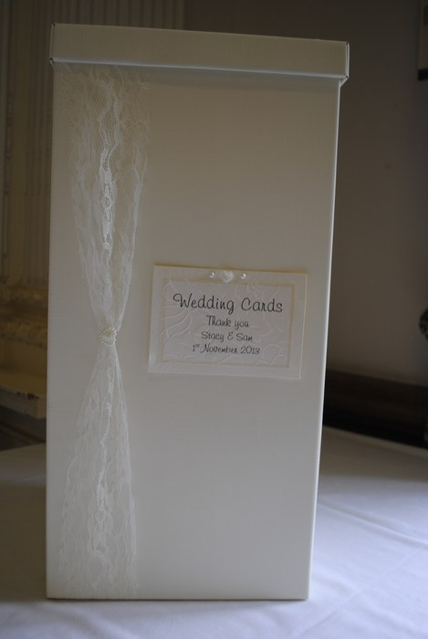 Lovely Lace wedding card post box