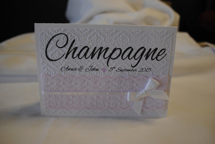 Chantilly Lace table number/name