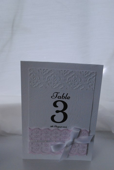 Chantilly Lace table number