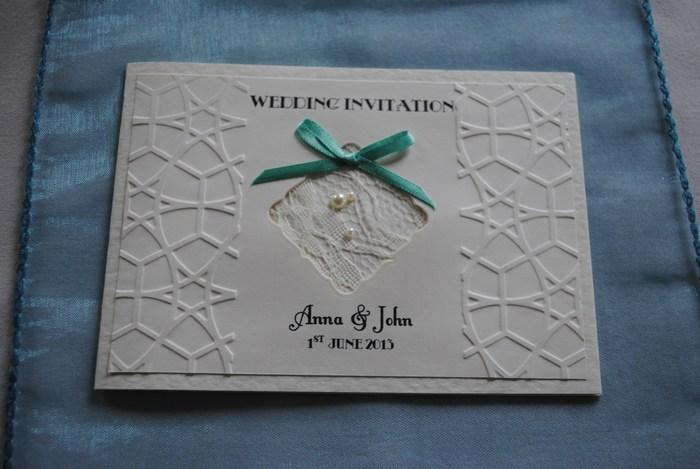 Standard Invitation design in Lace Bow Range