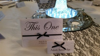 Victorian Lace table number/name & name card