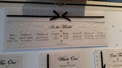 Victorian Lace table plan, top table view