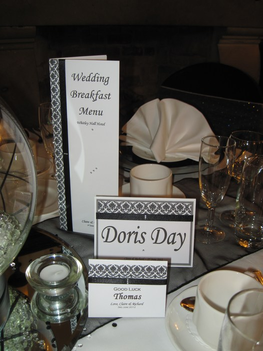 Damask Table Name card