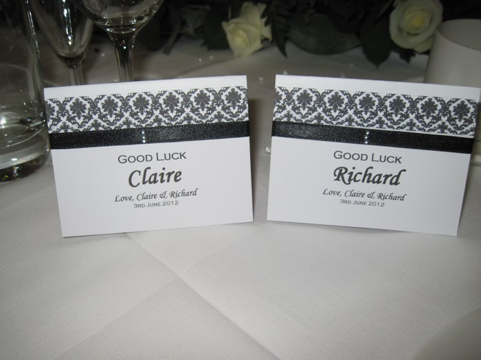 Damask lotto/scratch card name card holders