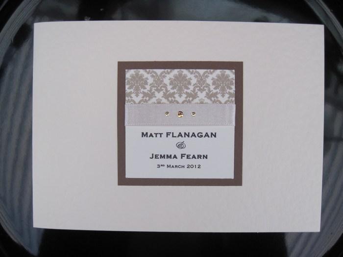 Standard Invitation design in Damask Range