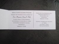 Cheque book Invitation in the Damask Range