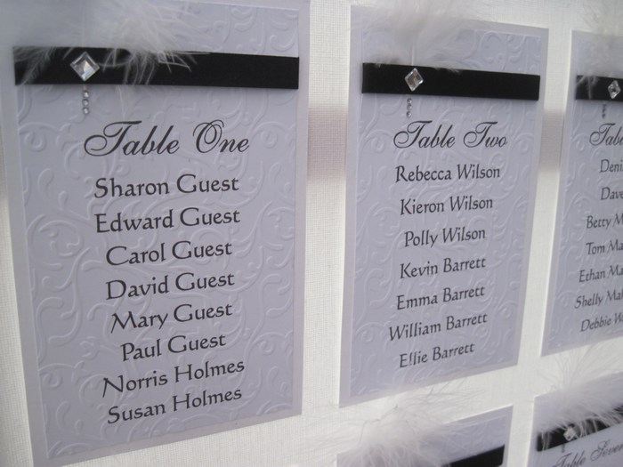 Diamante Feather table plan, closer view