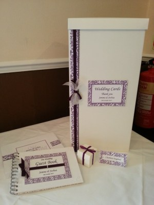 Contemporary Swirl, wedding card post box & guest book
