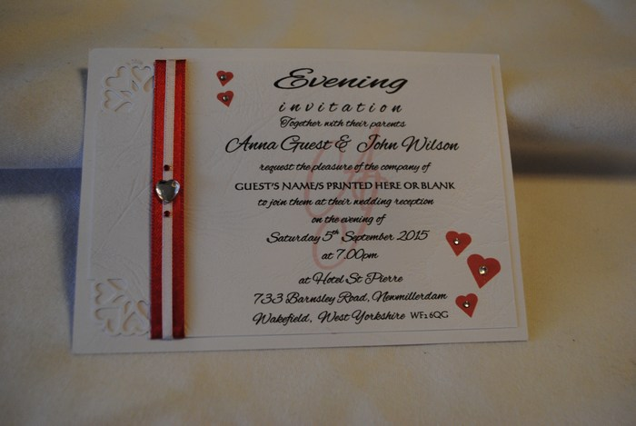 Dior Romance double mounted evening invitation