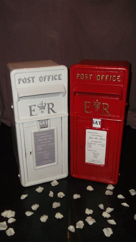 Royal mail cast iron post box, red or white