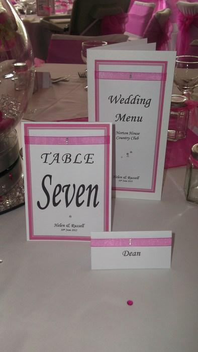 Ribbon & Diamante Menu