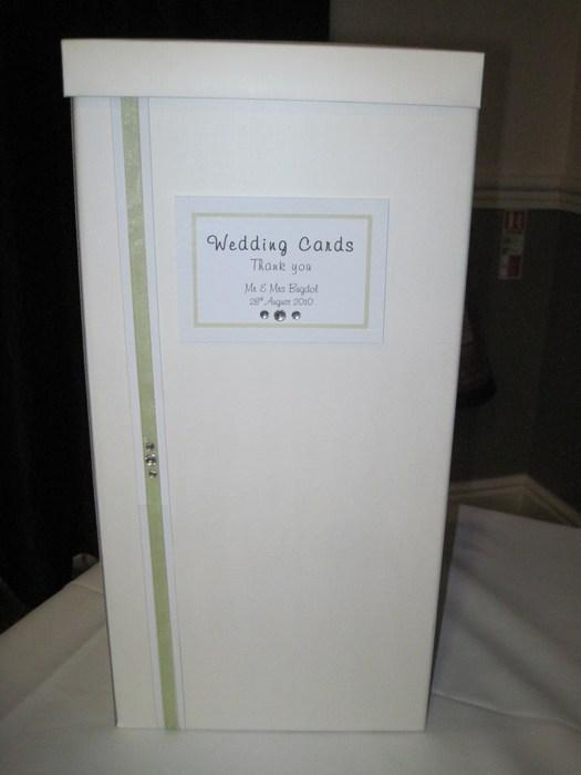 Ribbon & Diamante wedding card post box