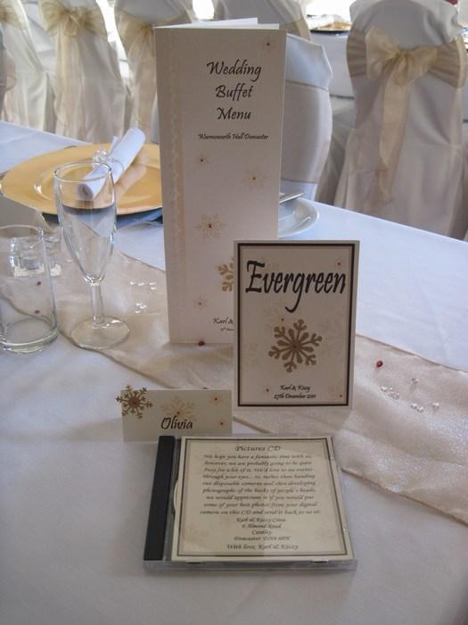 Snowflake Table Name Cards
