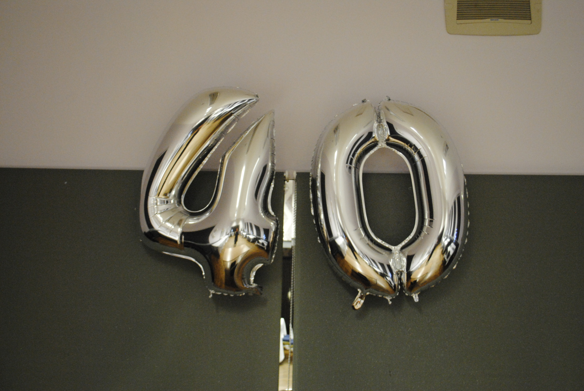 Foil Numbers - 40th in silver