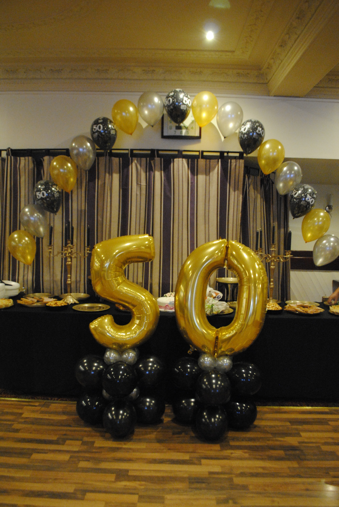 Foil Numbers - 50 in gold on columns
