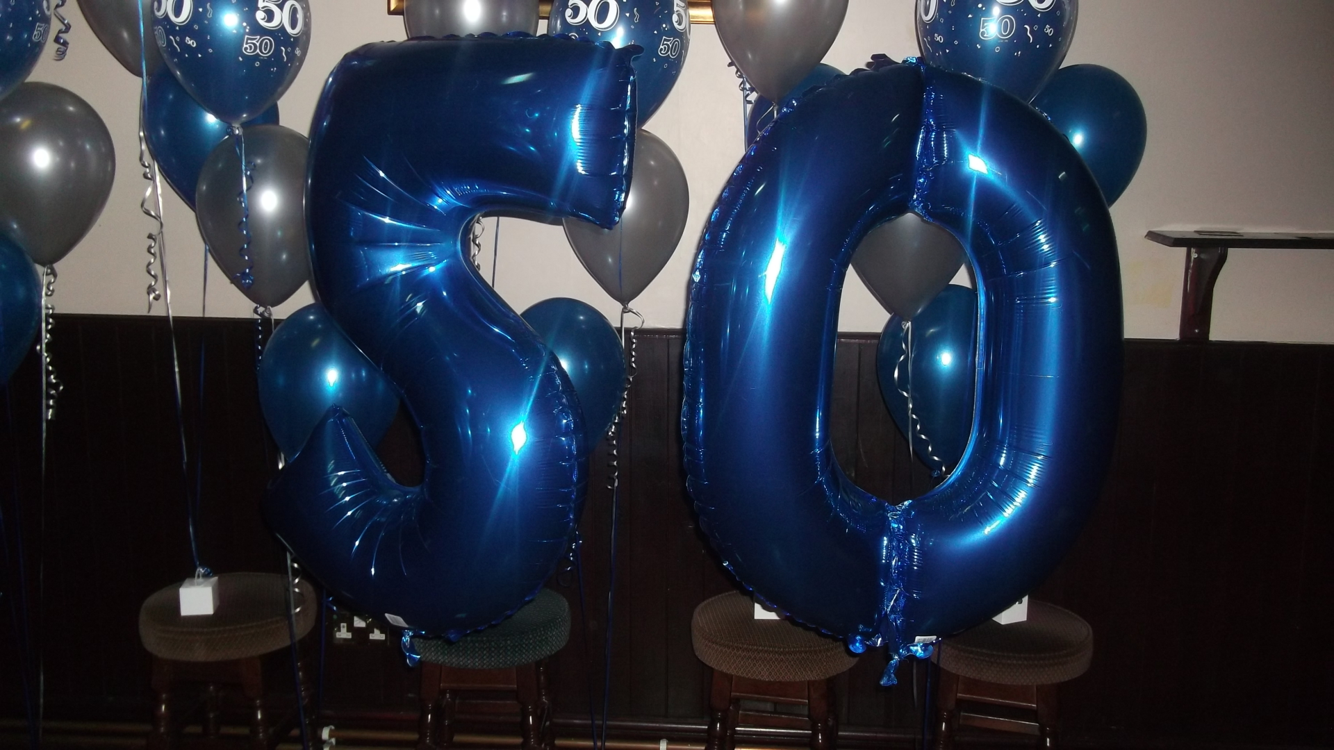 Foil Numbers - 50 in blue