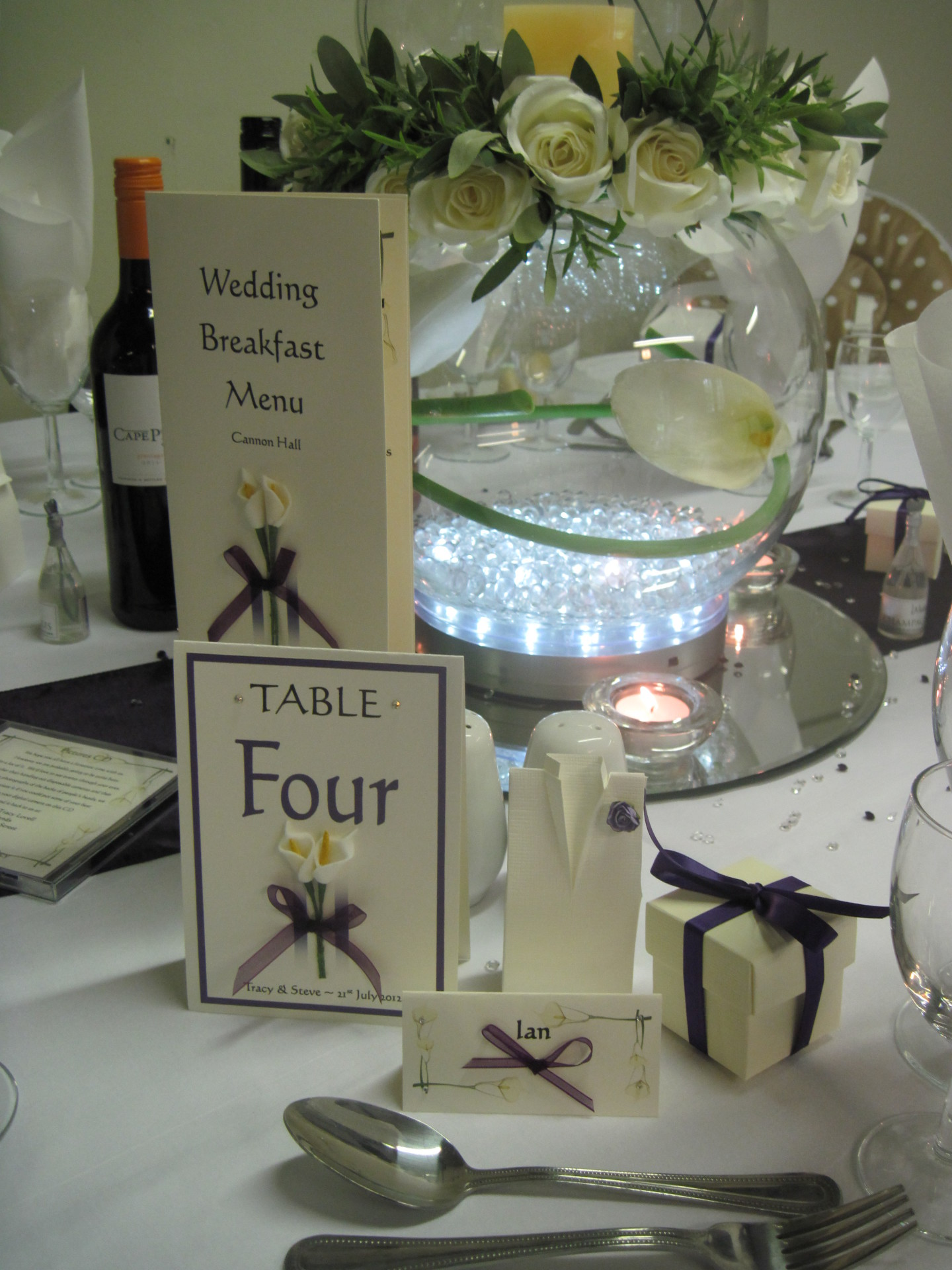 Calla Lily Table Number