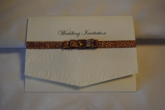 Pocket Fold Invitation in Dior Bow Range